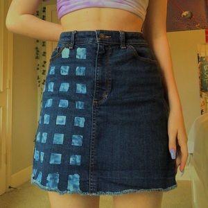 Homemade denim skirt!!